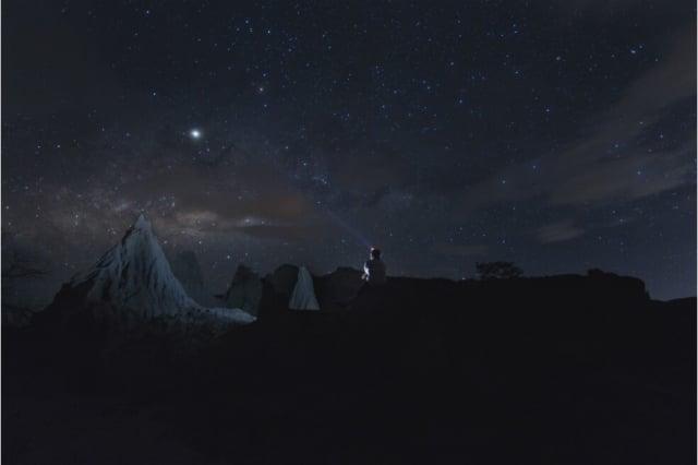 desierto de la tatacoa de noche