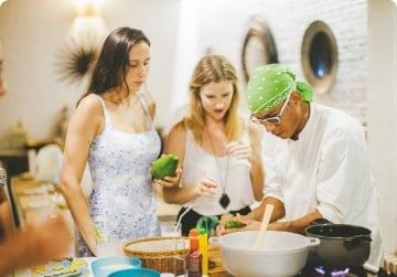 Cours de cuisine + Marché Bazurto